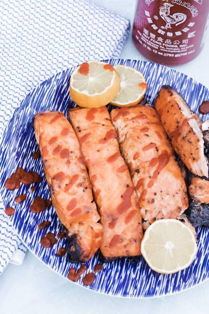 Easy honey sriracha salmon recipe
